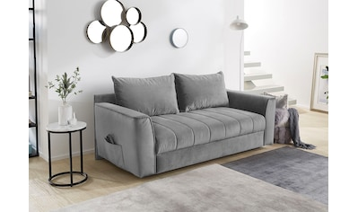 Home affaire Schlafsofa, Platzsparendes Sofa mit Gästebettfunktion, Federkernpolsterung und Stauraum kaufen
