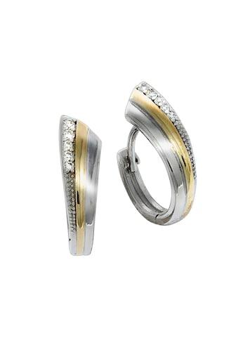 Vivance Klappcreolen »925/ -  Sterling Silber vergoldet Zirkonia« kaufen