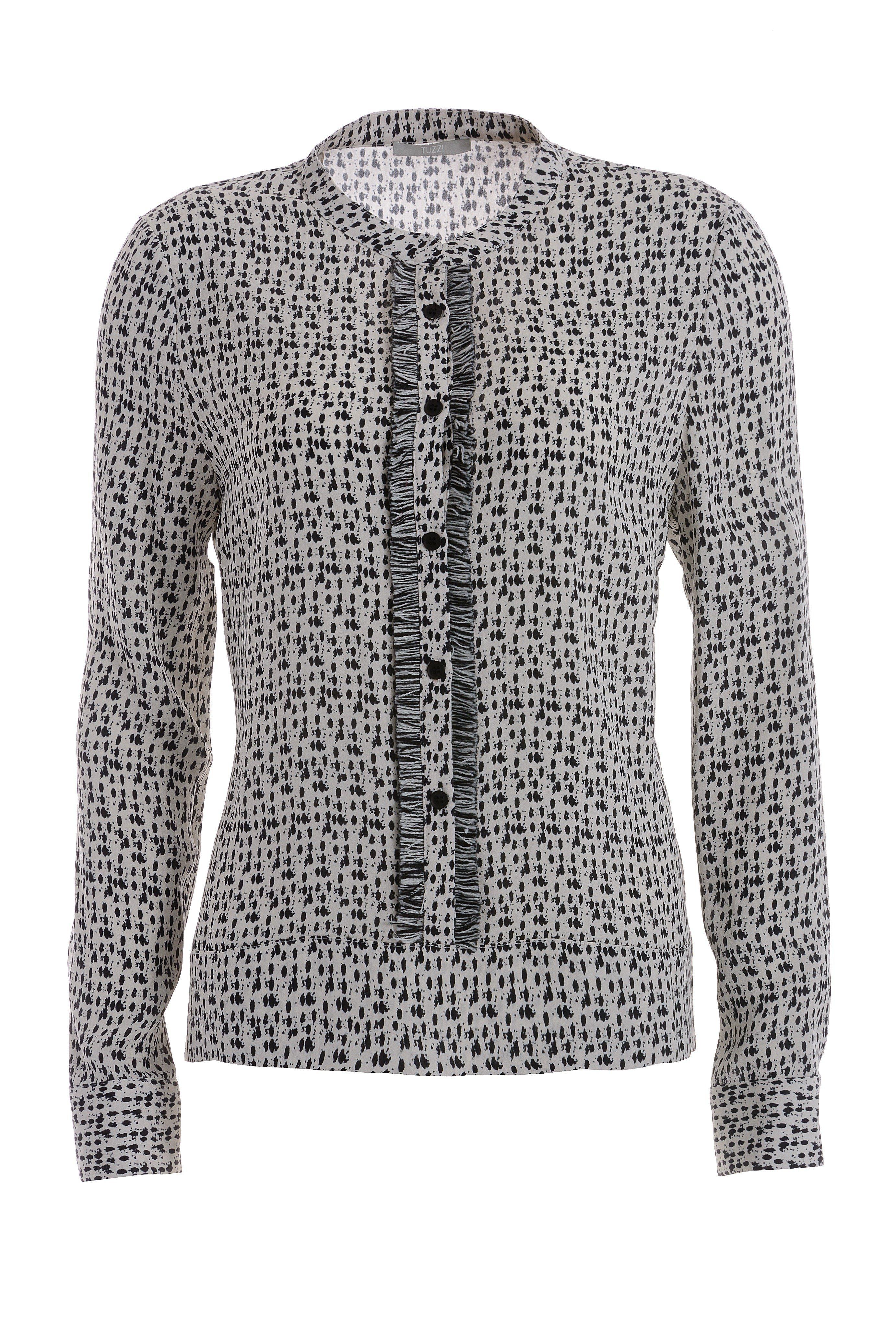 TUZZI Bedruckte Bluse mit Fransenband