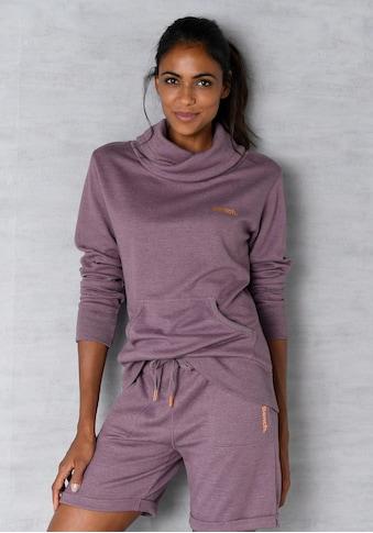 Bench. Sweatshirt, mit Stehkragen in Layeroptik kaufen