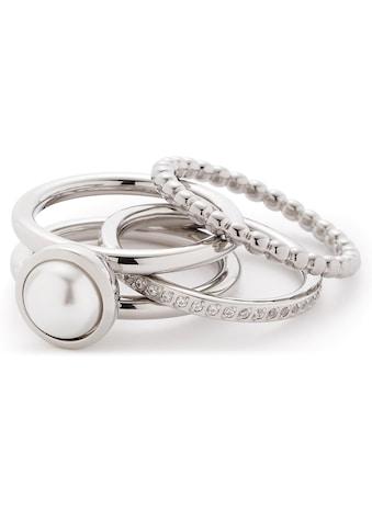LEONARDO Ring - Set »Set/3 Ring 17, 18, 19 Perla, 016868« (Set, 3 tlg.) kaufen