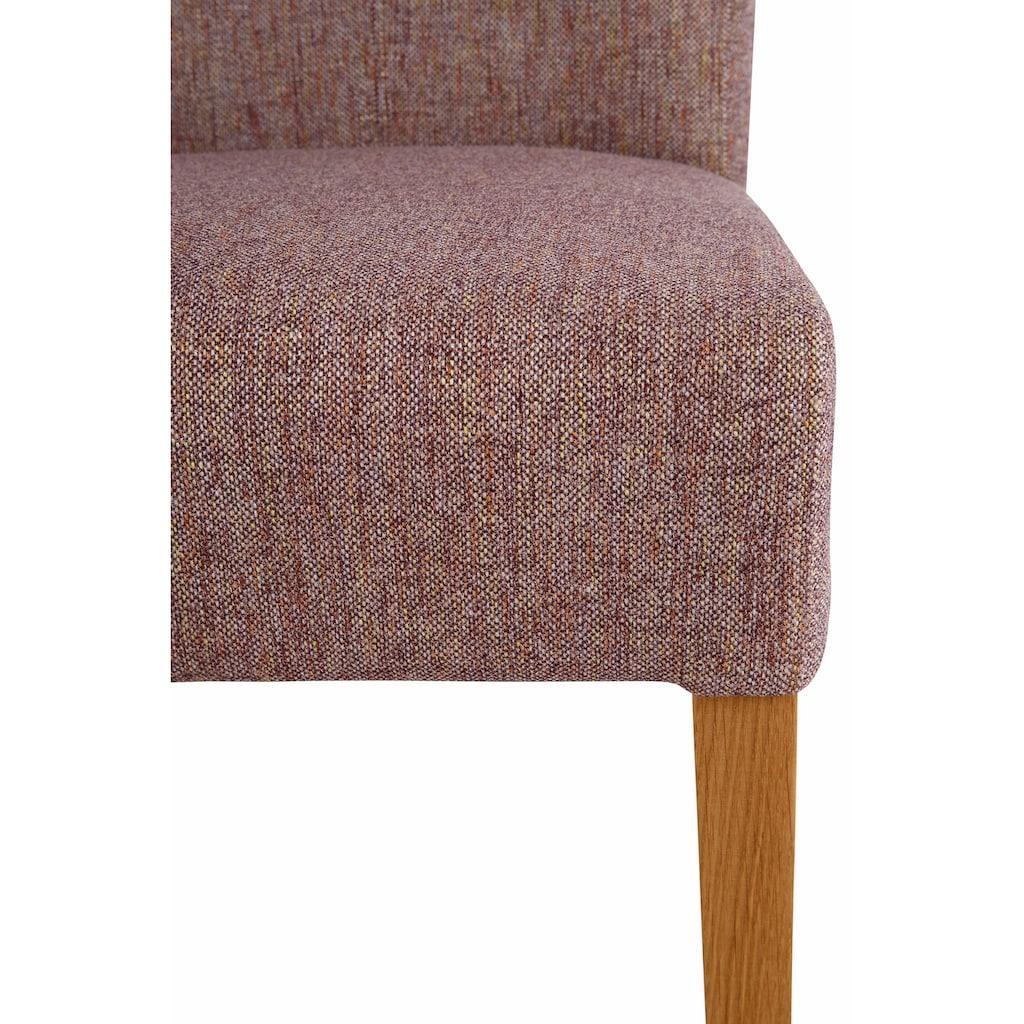 Home affaire 4-Fußstuhl »Queen«, bezogen mit Web- oder Strukturstoff, Microfaser oder Kunstleder. Im 2er-, 4er oder 6er-Set