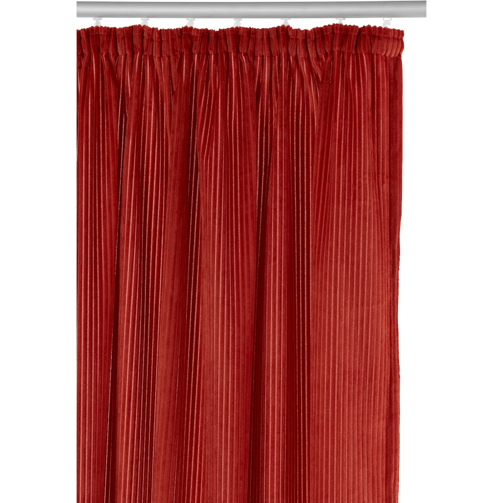 andas Vorhang »Tromso-Cord«, Cordstoff, blickdicht, modern, monochrom