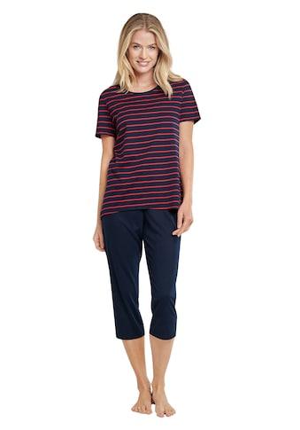Schiesser Capri-Pyjama, mit klassischem Streifenmuster kaufen