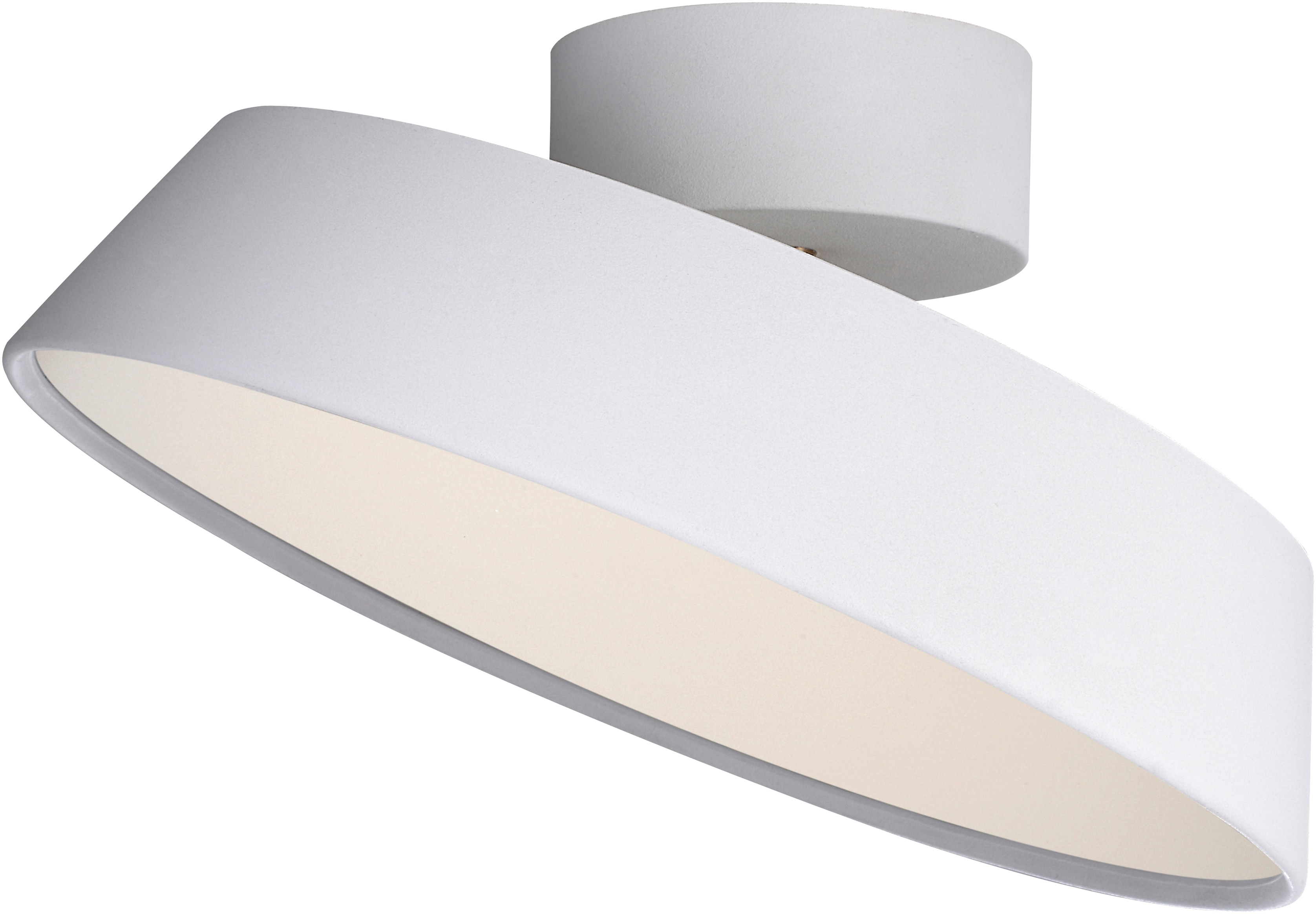 design for the people LED Deckenleuchte ALBA, LED-Modul, Warmweiß, Dimmbar, inkl.LED Modul 12W, Stromsparend, Langlebig, Schirm schwenkbar