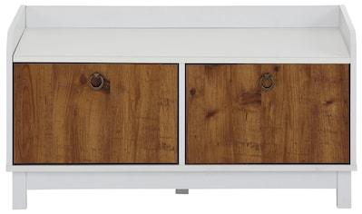 Home affaire Bank »Goslar«, mit schönen Metallgriffen, folierter Holzwerkstoff, Breite 92 cm kaufen