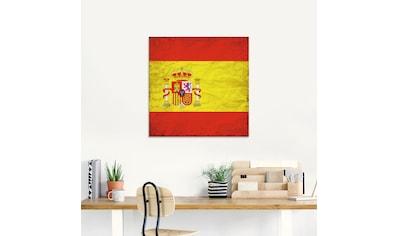 Artland Glasbild »Spanische Flagge Spanien Symbol«, Zeichen, (1 St.) kaufen