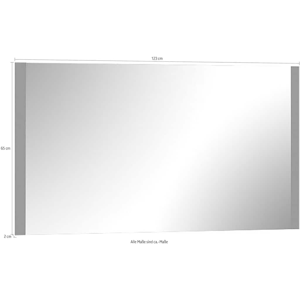 Places of Style Wandspiegel »Onyx«, Maße (B/T/H): 123/2/65 cm