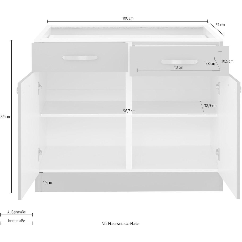 wiho Küchen Unterschrank »Kansas«, 100 cm breit, ohne Arbeitsplatte