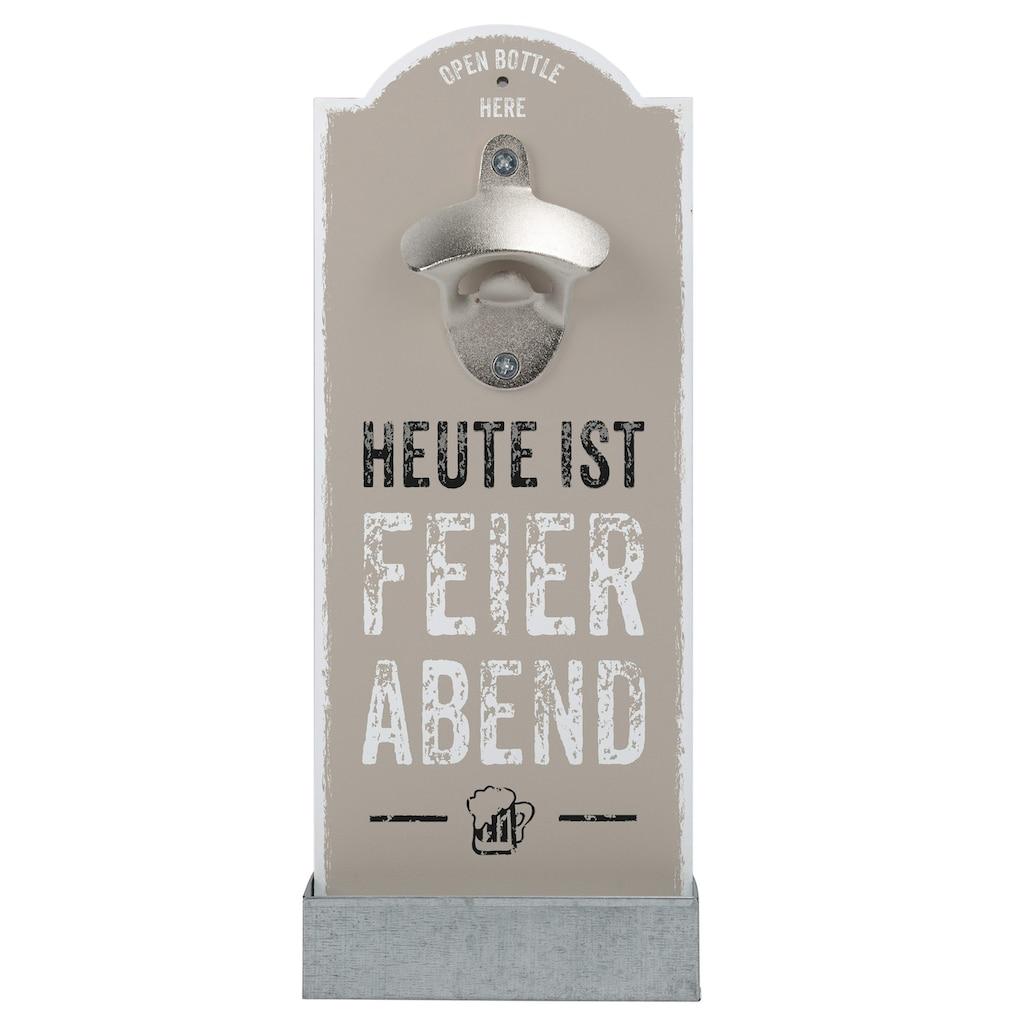 Contento Flaschenöffner »Feierabend«, für die Wand