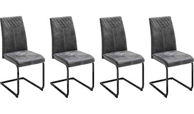 MCA furniture Esszimmerstuhl »Aosta«, 4er-Set, Stoffbezug Vintagelook, Stuhl belastbar bis 120 Kg kaufen