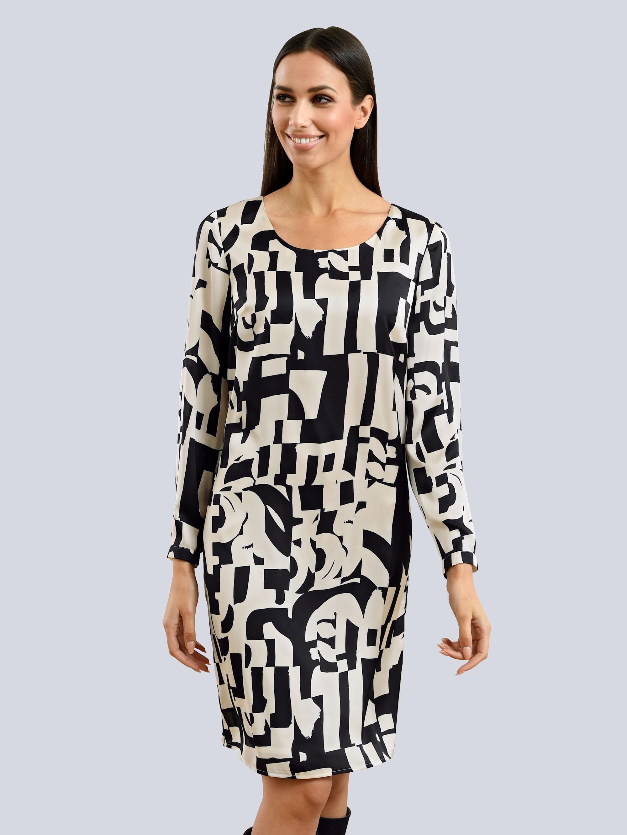 alba moda -  Druckkleid, aus reiner Viskoseware