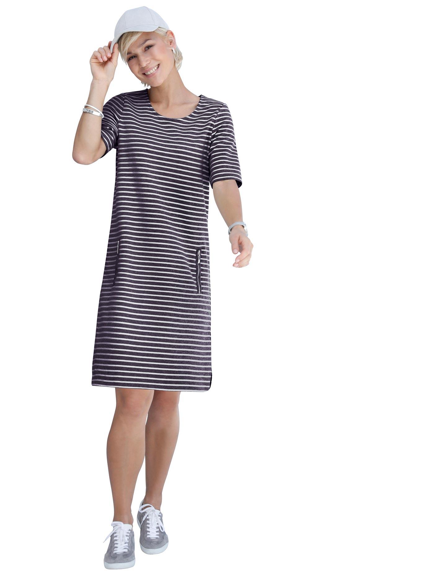 Casual Looks Jersey-Kleid im Blockstreifen-Dessin
