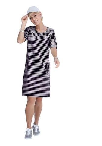 Casual Looks Jersey - Kleid im Blockstreifen - Dessin kaufen
