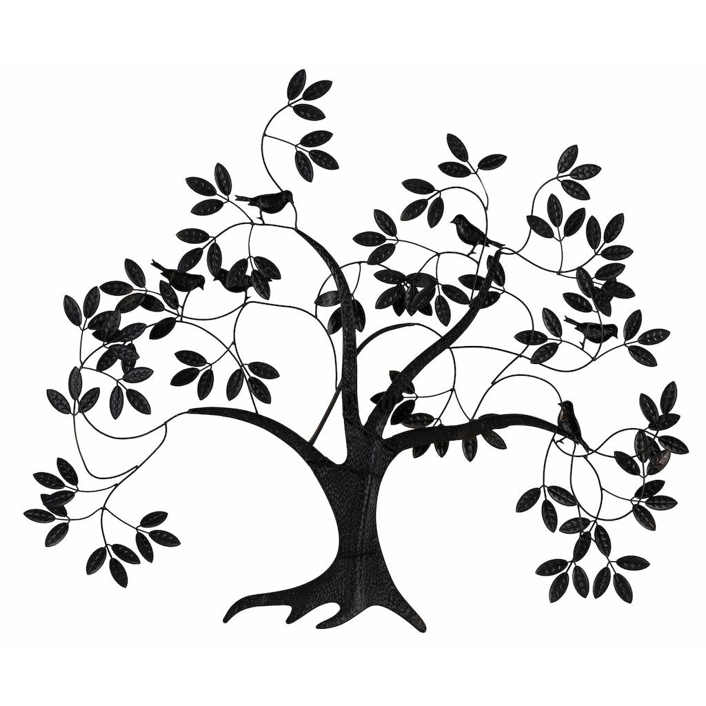 Home affaire Wanddekoobjekt »Baum«, Wanddeko, Wanddekoration, aus Metall