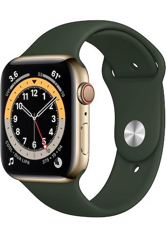 Apple Watch »Series 6 GPS + Cellular, Edelstahlgehäuse mit Sport Loop 44mm« (, Watch OS, inkl. Ladestation (magnetisches Ladekabel) kaufen