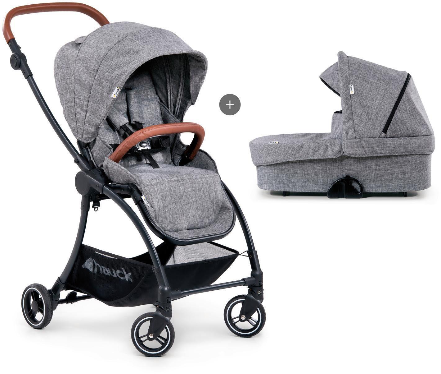 "Hauck Kombi-Kinderwagen ""Eagle 4S Duoset melange grey"" Kindermode/Ausstattung/Kinderwagen & Buggies/Kinderwagen/Kombikinderwagen"