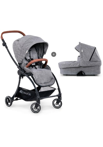 Hauck Kombi-Kinderwagen »Eagle 4S Duoset, melange grey«, mit Babywanne, Fußsack und... kaufen