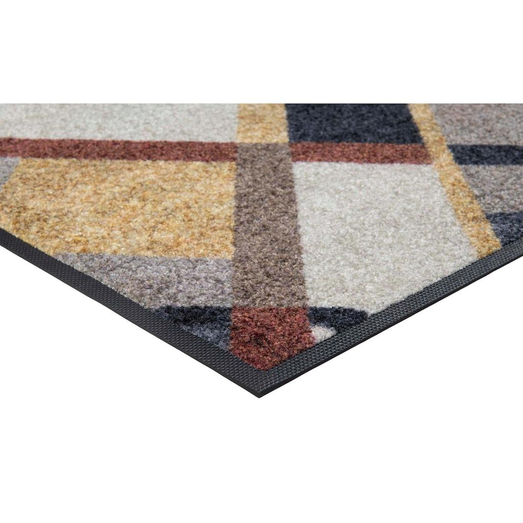 wash+dry by Kleen-Tex Fußmatte »Art Deco«, rechteckig, 7 mm Höhe, Schmutzfangmatte, In- und Outdoor geeignet