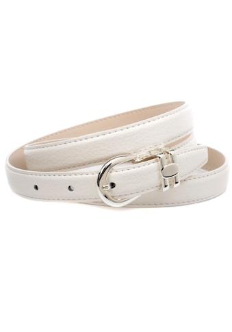 Anthoni Crown Ledergürtel, Schmaler Ledergürtel in weiß kaufen