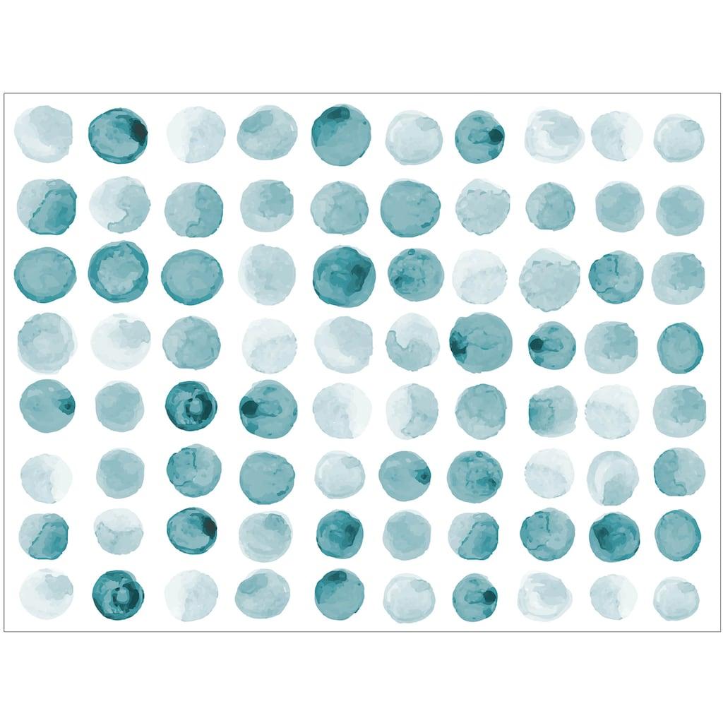 Contento Platzset »Matteo«, (Set, 4 St.), für den Innen- und Außenbereich, wasserabweisend, blau, 30x40 cm