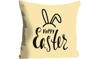 queence Kissenhülle »Happy Easter yellow«, (1 St.), mit einem österlichen Schriftzug kaufen