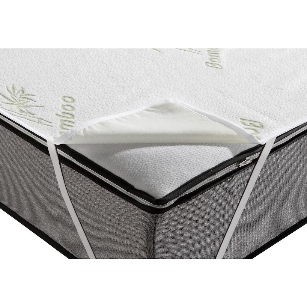 my home Matratzenauflage »Bambussy«, Drei mal besserer Feuchtigkeitstransport als Baumwolle und dabei noch samtig weich