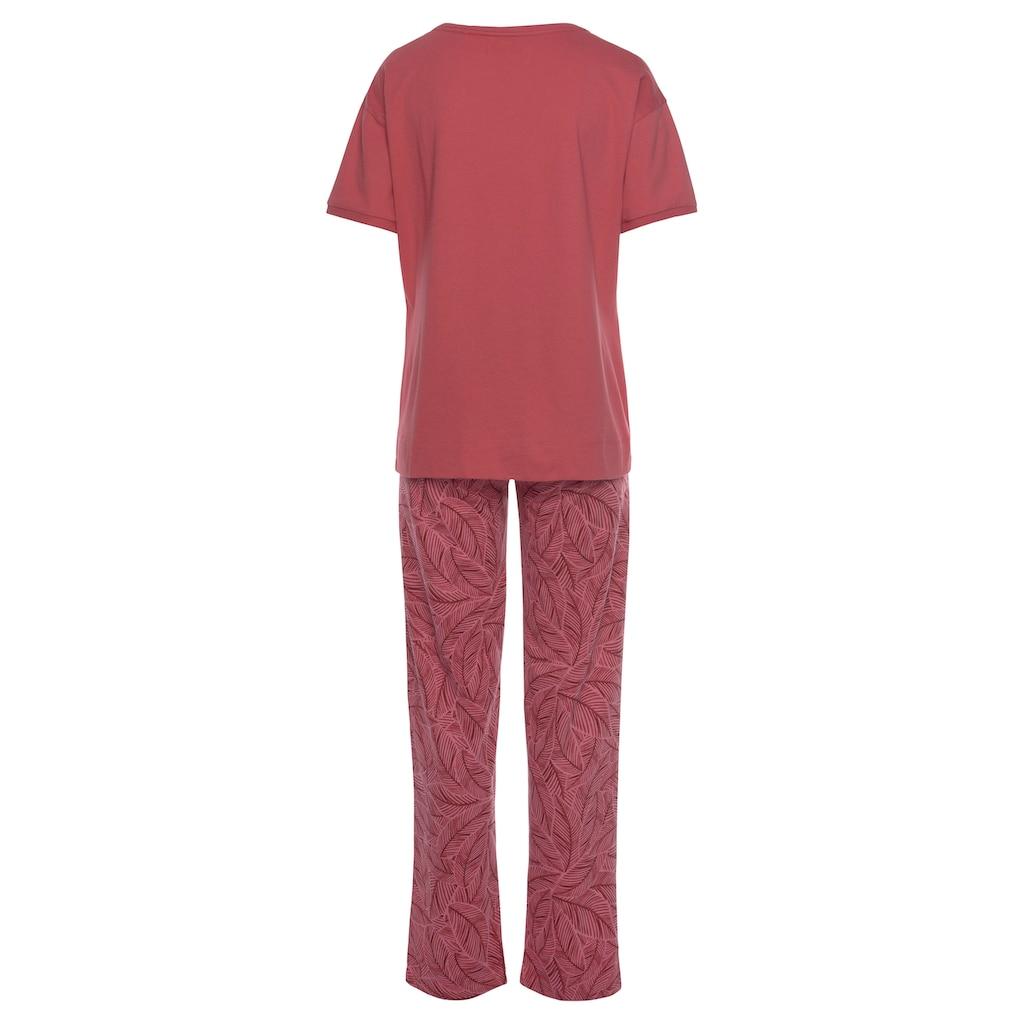 Triumph Pyjama, mit Blättermotiv
