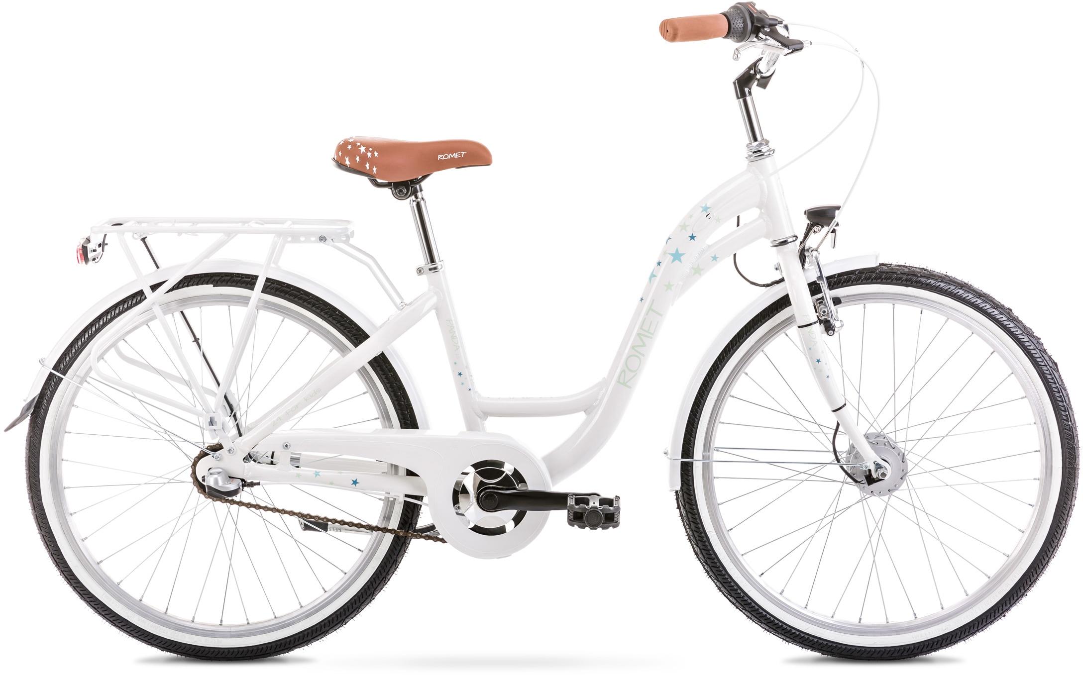 ROMET Cityrad Panda 2.0, Nabenschaltung weiß Damen Kinderfahrräder Fahrräder Zubehör Fahrrad