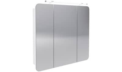 FACKELMANN Spiegelschrank »Milano«, LED - Aufsatzleuchte, 3 Türen, 6 Glaseinlegeböden kaufen