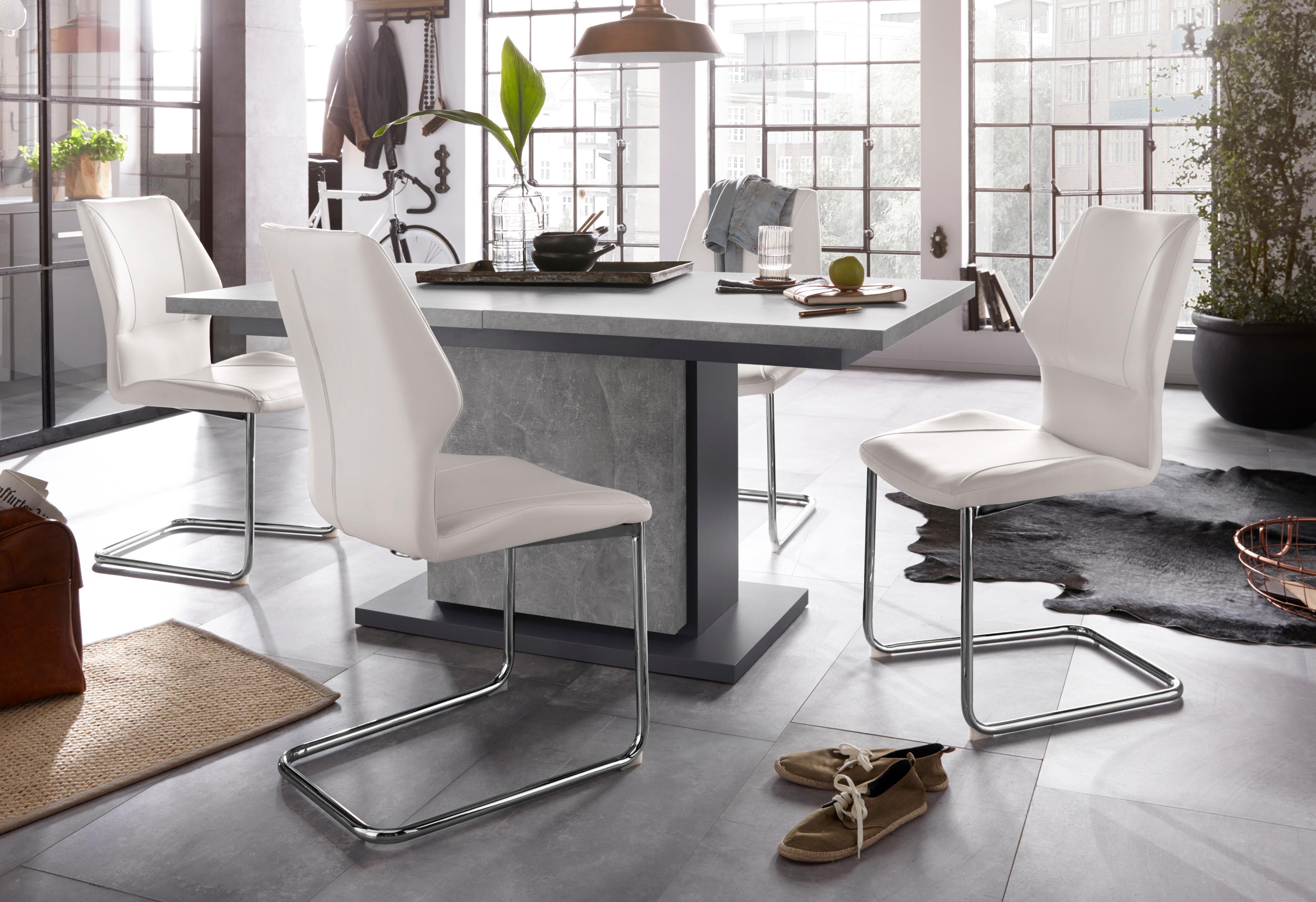 Homexperts Essgruppe Bärbel/Amelie Breite 160 cm mit Auszug und 4 Stühle