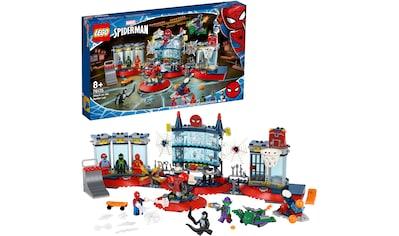 LEGO® Konstruktionsspielsteine »Angriff auf Spider-Mans Versteck (76175), LEGO® Marvel Super Heroes«, (466 St.), Made in Europe kaufen