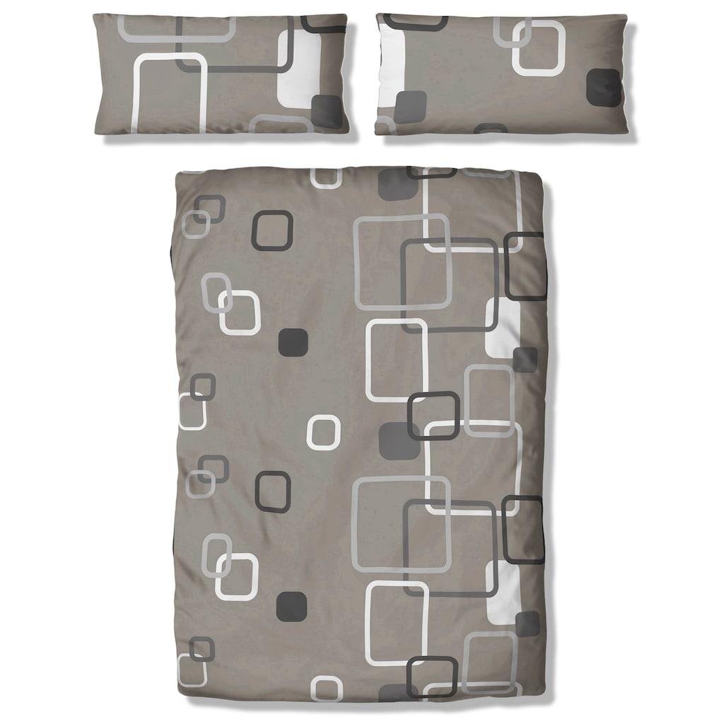 my home Bettwäsche »Quadro«, mit modernen Vierecken