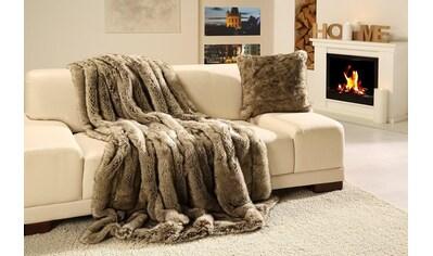 Wohndecke »Wolf Felloptik«, Gözze kaufen