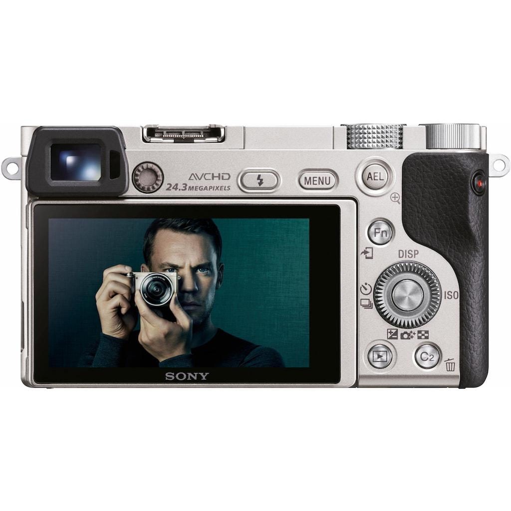 Sony Systemkamera »Alpha ILCE-6000L«, SEL-P1650, WLAN (Wi-Fi)-NFC, Gesichtserkennung, HDR-Aufnahme, Makroaufnahme
