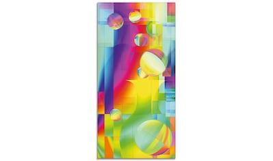 Artland Glasbild »Farbige Freude«, Muster, (1 St.) kaufen
