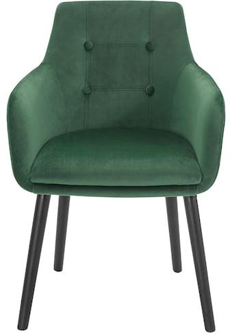 Home affaire Armlehnstuhl »Bradford«, (1 oder 2 Stück), Bezug in Samtsoff, Gestell aus... kaufen
