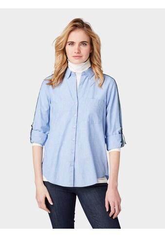 TOM TAILOR Hemdbluse »Bluse mit Galonstreifen an den Ärmeln« kaufen