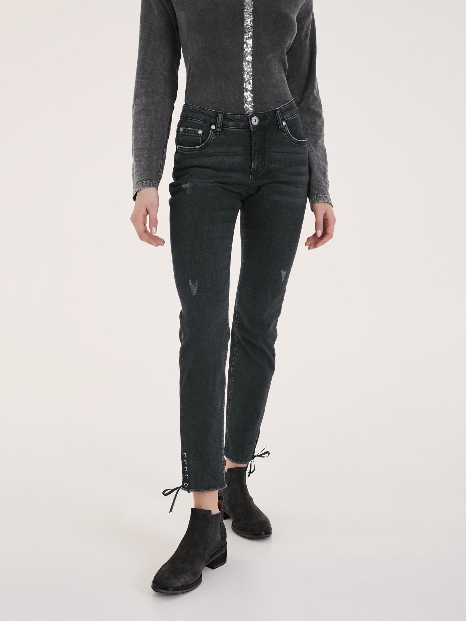 heine casual jeans mit schn rung am bein f r baur. Black Bedroom Furniture Sets. Home Design Ideas