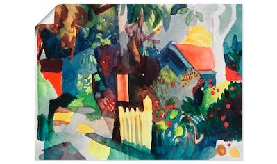 Artland Wandbild »Landschaft mit hellem Baum«, Garten, (1 St.), in vielen Größen &... kaufen