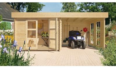 Kiehn - Holz Set: Gartenhaus »Lütjensee 2«, BxT: 430x233 cm, Anbaudach, Seiten -  und Rückwand, Fußboden kaufen