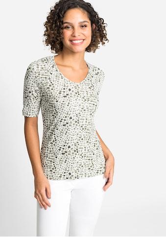 Olsen V-Shirt, mit Kieselstein-Print kaufen