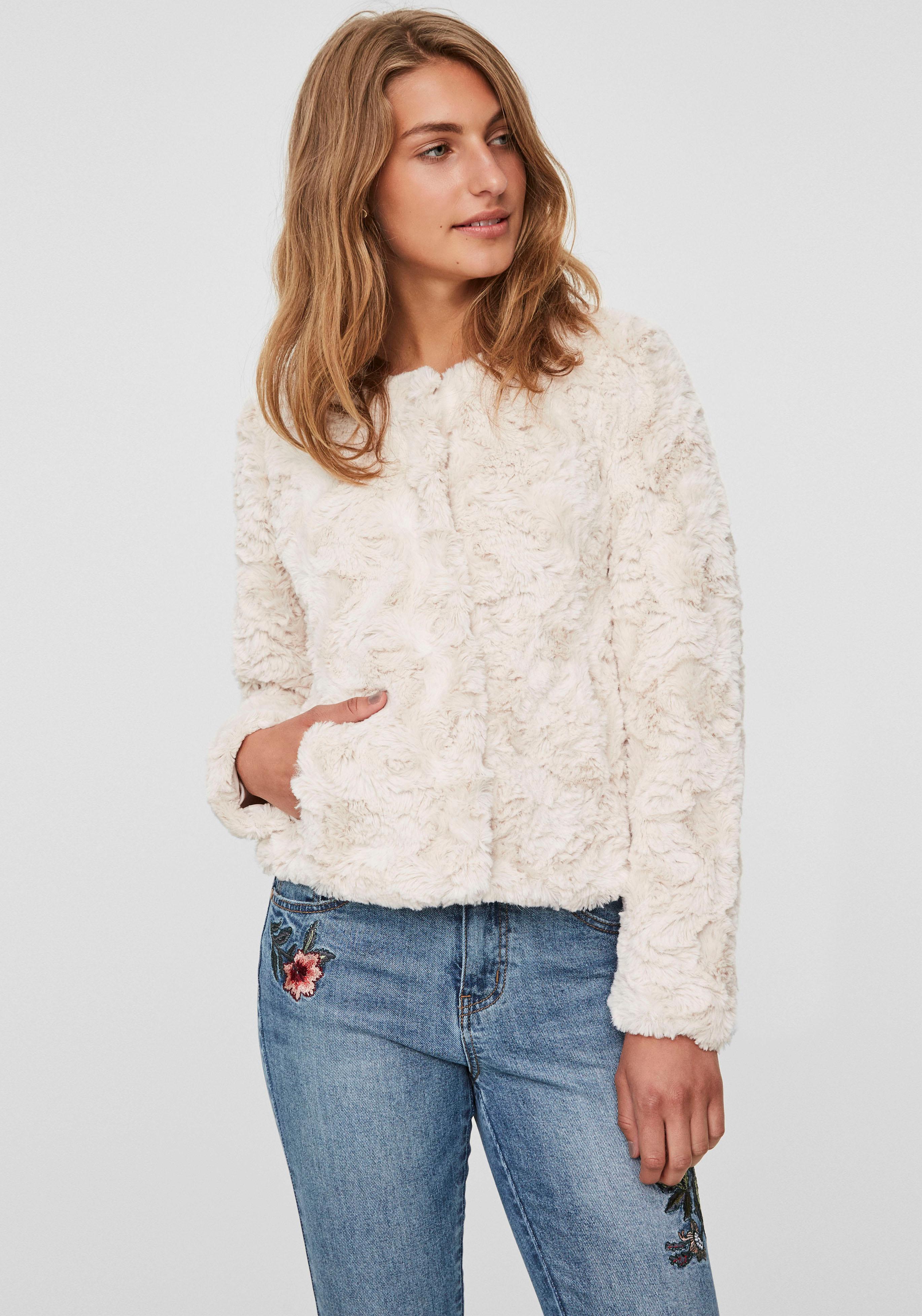 Vero Moda Fellimitatjacke CURL | Bekleidung > Jacken > Fellimitatjacken | Weiß | Vero Moda