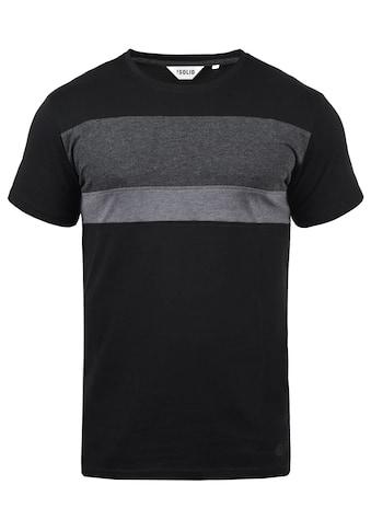 Solid Rundhalsshirt »Sascha«, T-Shirt in Tricolor Streifenoptik kaufen
