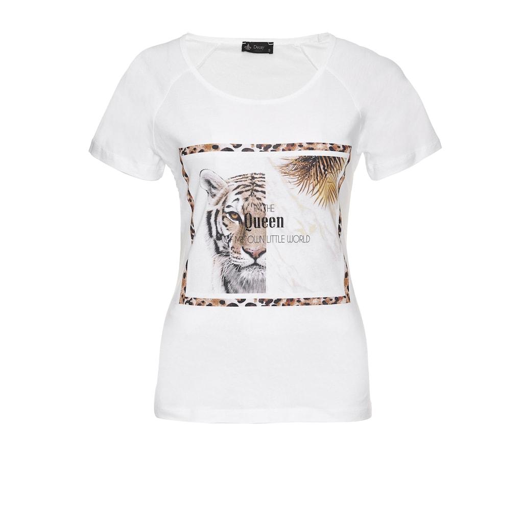 Decay T-Shirt »Tiger«, mit coolem Tiger-Motiv