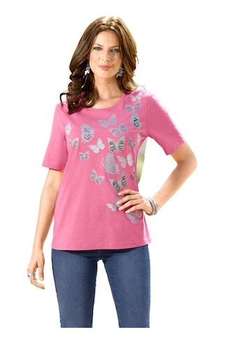 Classic Basics Shirt mit süßem Schmetterlings - Druck kaufen