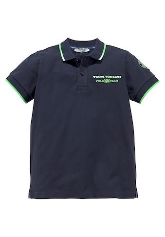 TOM TAILOR Polo Team Poloshirt, mit Stickerei und Applikation kaufen