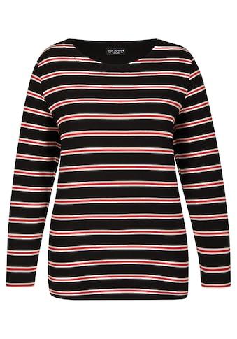 VIA APPIA DUE Feminines Sweatshirt mit Ringel-Muster Plus Size kaufen
