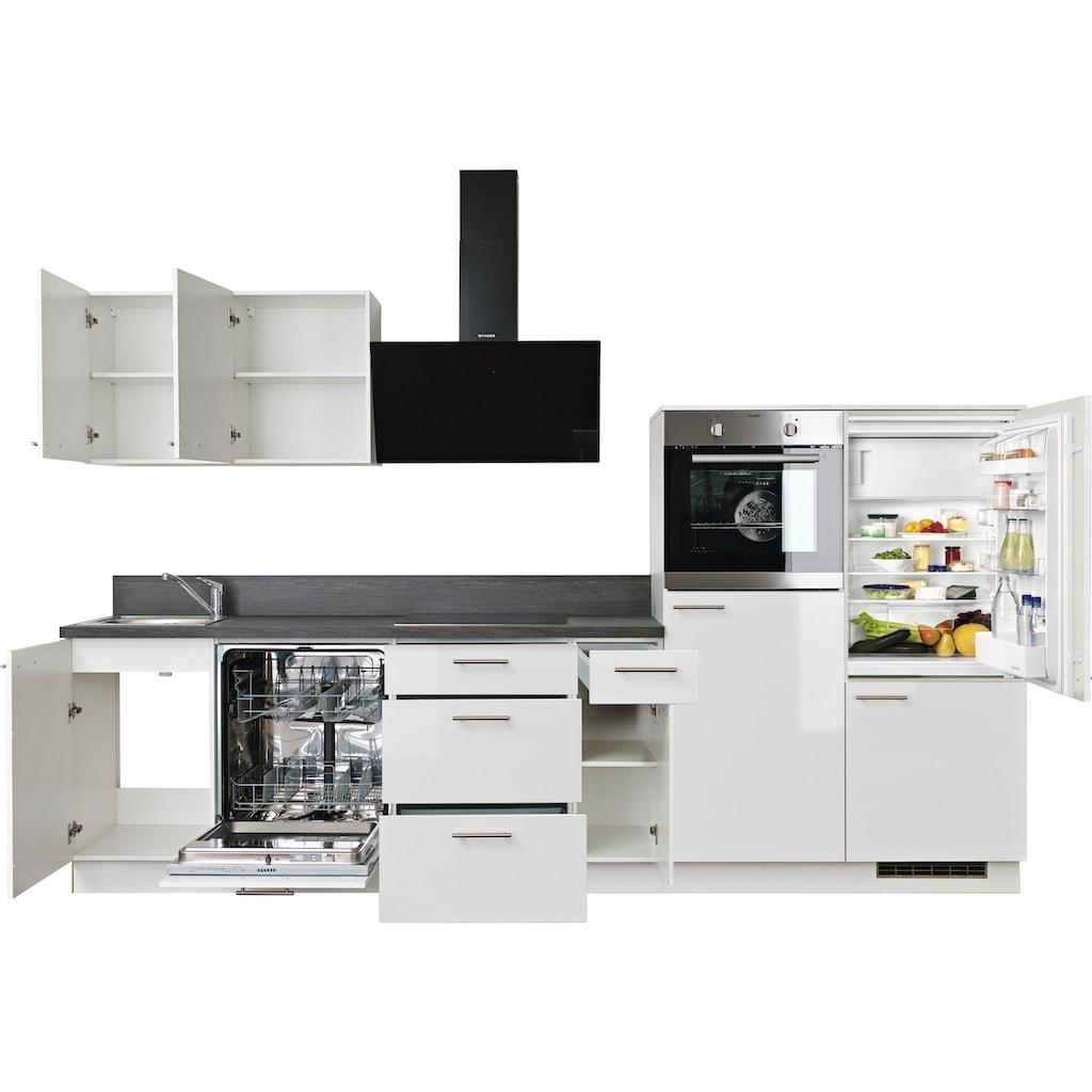 Express Küchen Küchenzeile »Scafa«, ohne E-Geräte, vormontiert, mit Vollauszug und Soft-Close-Funktion, Breite 320 cm
