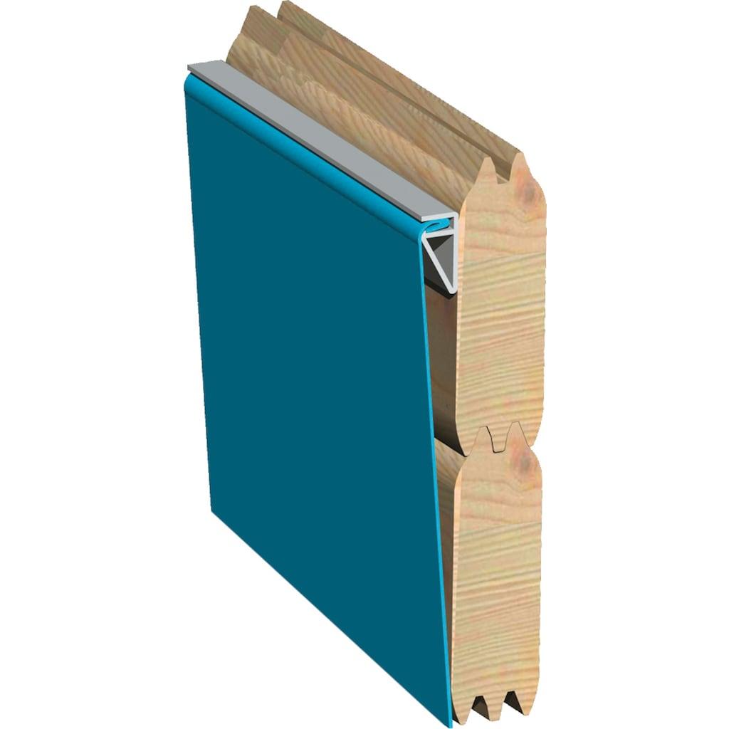 Karibu Achteckpool »4«, BxLxH: 358x569x124 cm, mit Sonnenterrasse B und Eckterrasse